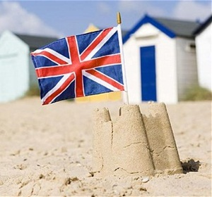 British-Flag-in-a-Sandcastle