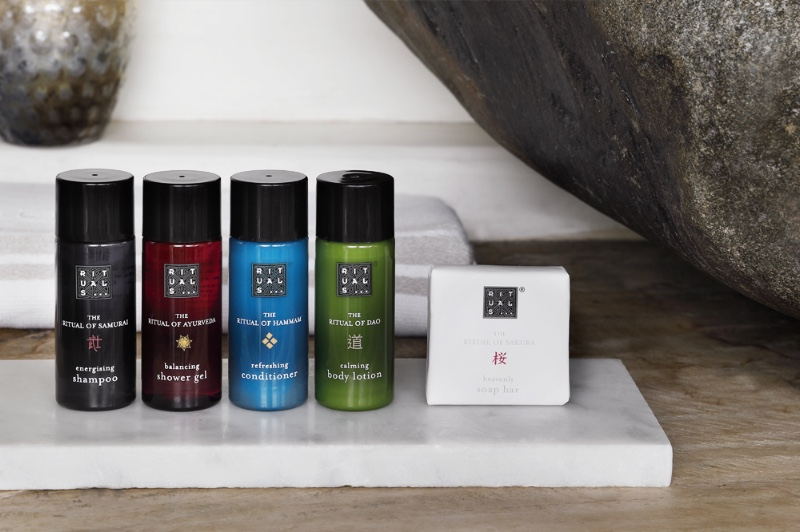 Introducing rituals toiletries amenities fragrance for for Hotel bathroom supplies