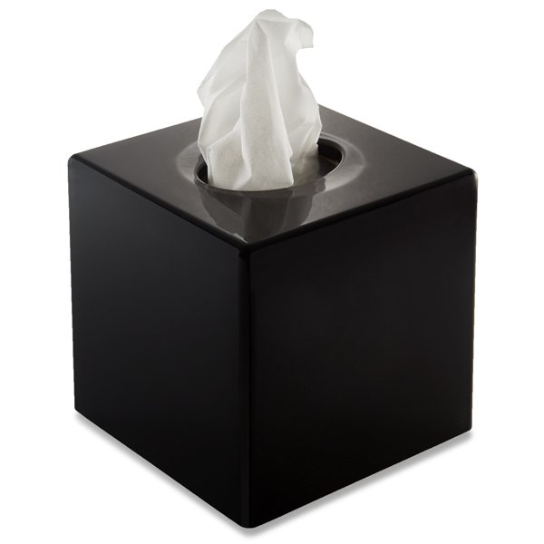 Glossy Black Tissue Box Cover Tissue Dispenser