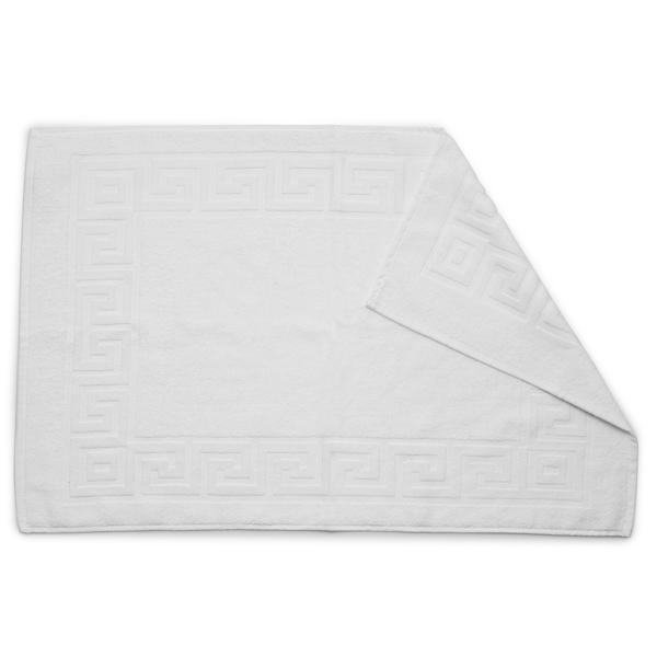Greek Key Towelling Bath Mat Case 10